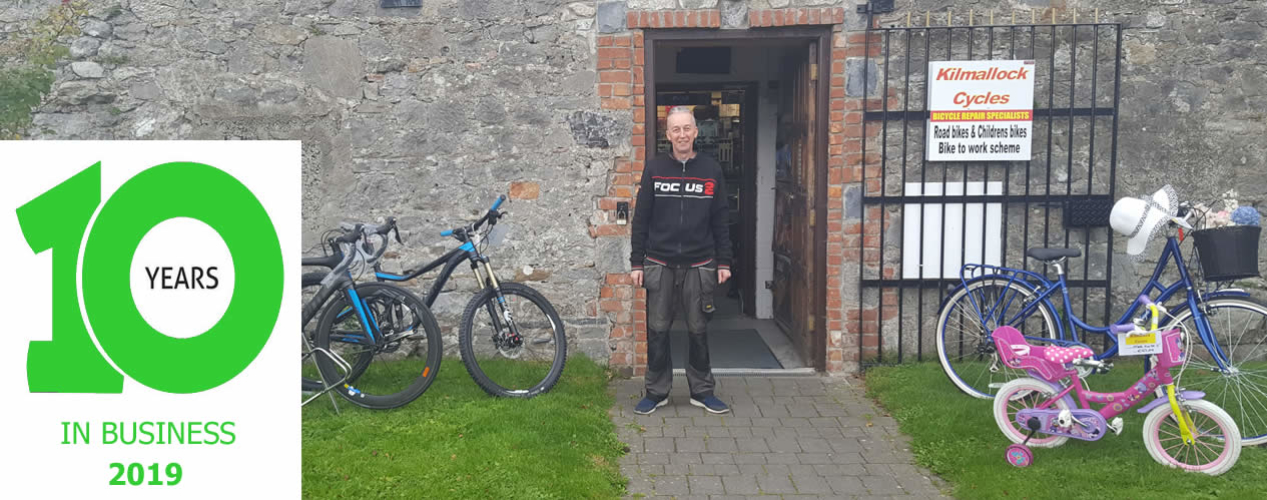 Kilmallock Cycles, celebrating 10 Years in Business in 2019.